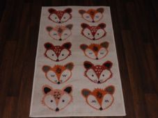 Modern Approx 4x2 60cm x 110cm Novelty range new Foxes Cream/Terra rugs Sale